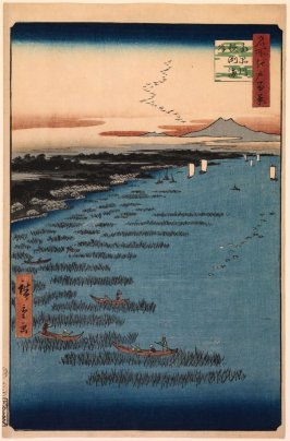The Samezu Coast in South Shinagawa (Minami Shinagawa Samezu kaigan), no. 109 from the series One Hundred Views of Famous Places in Edo (Meisho Edo hyakkei)