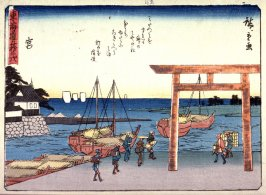 Miya, no. 42 from a series of Fifty-three Stations of the Tokaido (Tokaido gojusantsugi)