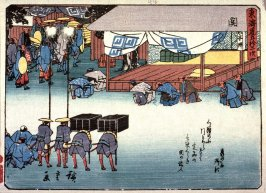 Seki, no. 48 from a series of Fifty-three Stations of the Tokaido (Tokaido gojusantsugi)
