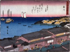 Shinagawa, no. 2 from a series of Fifty-three Stations of the Tokaido (Tokaido gojusantsugi)