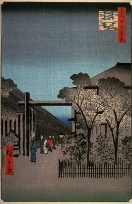 Dawn in the Yoshiwara (Licensed Quarters) (Kakuchu toun), no. 38 from the series One Hundred Views of Famous Places in Edo (Meisho edo hyakkei)