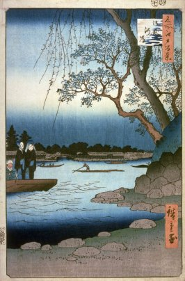 Ommayagashi, no. 105 in the series One Hundred Views of Famous Places in Edo (Meisho edo hyakkei)