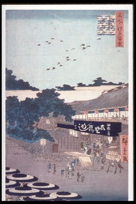 The Yamashita District of Ueno (Ueno yamashita), no. 12 from the series One Hundred Views of Famous Places in Edo (Meisho edo hyakkei)