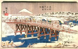 Nihon Bridge in Snow (Nihonbashi setchū), from the series Famous Places in the Eastern Capital (Tōto meisho)