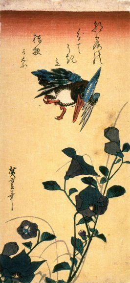 Untitled (Kingfisher and Bellflower (Kikyo))