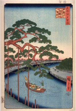 Five Pines on the Konagi River (Konagigawa gohonmatsu), no. 97 in the series One Hundred Views of Famous Places in Edo (Meisho edo hyakkei)