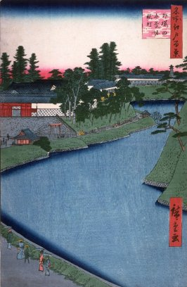 Kojimachi and the Benkei Canal at Soto Sakurada (Soto sakurada benkeibori kojimachi), no. 66 from the series One Hundred Views of Famous Places in Edo (Meisho edo hyakkei)