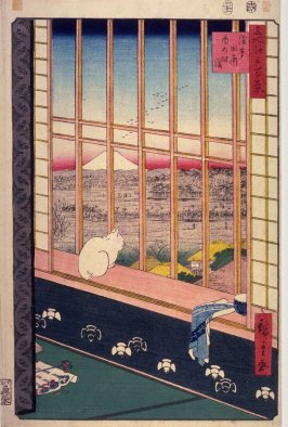 The Bird Festival in the Fields near Asakusa (Asakusa tanbo Torinomachi mōde), no. 101 from the series One Hundred Views of Famous Places in Edo (Meisho Edo hyakkei)