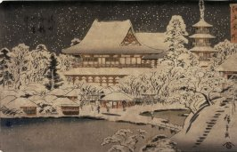 Kinryuzan Temple at Asakusa in Snow (Asakusa kinryuzan setchu), from a series Famous Places in Edo (Edo meisho)