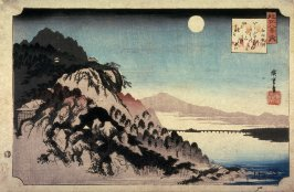 Autumn Moon at Ishiyama (Ishiyama no shugetsu), from the series Eight Views of Omi Province (Omi hakkei)