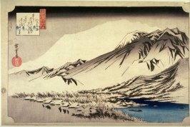 Evening Snow on Mt. Hira (Hira no bosetsu), from the series Eight Views of Omi Province (Omi hakkei)