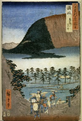 Distant View of Elephant Head Mountain in Sanuki Province (Sanuki zosusan embo), from the series Pictures of Famous Places in the Sixty-odd Provinces (Rokujuoshu meisho zue)