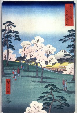Asuka Hill in Edo (Toto asukayama), from the series Thirty-six Views of Mt. Fuji (Fuji sanjurokkei)