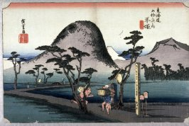 The Nawate Road near Hiratsuke (Hiratsuka nawatemichi), no. 8 from the series Fifty-three Stations of the Tokaido (Tokaido gojusantsugi no uchi)