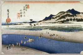 The Sakawa River near Odawara (Odawara sakawagawa), no. 10 from the series Fifty-three Stations of the Tokaido (Tokaido gojusantsugi no uchi)