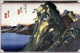 The Lake at Hakone (Hakone kosui zu), no. 11 from the series Fifty-three Stations of the Tokaido (Tokaido gojusantsugi no uchi)