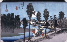 Twilight at Numazu (Numazu tasogare zu), no. 13 from the series Fifty-three Stations of the Tokaido (Tokaido gojusantsugi no uchi)