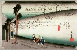 The Sarugababa Area near Futagawa (Futagawa sarugababa), no. 34 from the series Fifty-three Stations of the Tokaido (Tokaido gosantsugi no uchi)