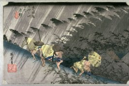 Evening Squall at Shono (Shono hakuu), no. 46 from the series Fifty-three Stations of the Tokaido (Tokaido gosantsugi no uchi)