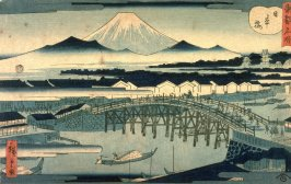 Nihon Bridge (Nihombashi), from the series Famous Places in the Eastern Capital l (Toto meisho)