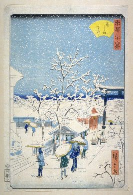 Snow at the Yushima Tenjin Shrine - From: 36 Views of the Eastern Capitol