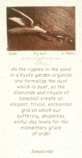 Fly Ball (holiday greeting card)