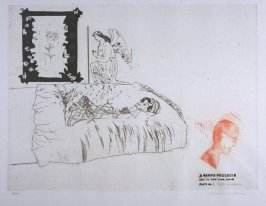 "Plate No. 6, ""Death in Harlem"" in the portfolio A Rake's Progress (London: Editions Alecto, The Print Centre, 1963)"