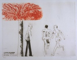 "Plate No. 3A, ""The 7 Stone Weakling,"" in the portfolio A Rake's Progress (London: Editions Alecto, The Print Centre, 1963)"