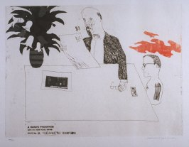 "Plate No.1A, ""Receiving the Inheritance,"" in the portfolio A Rake's Progress (London: Editions Alecto, The Print Centre, 1963)"