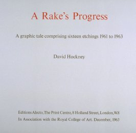 A Rake's Progress (London: Editions Alecto, The Print Centre, 1963)