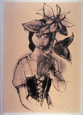 Girl With Poinsettia