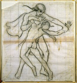 Study drawing for Bacchanale frieze