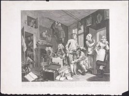 Plate I: The Rake Taking Possession of his Estate (copy after Hogarth)