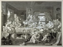 One of Four Prints of an Election: An Election Entertainment (plate I)