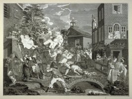 One of Four Prints of an Election: Chairing the Members (plate IV)