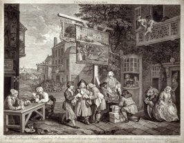 Canvassing for Votes (plate II): one of Four Prints of An Election