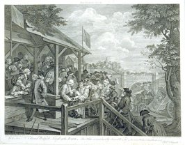 One of Four Prints of an Election: The Polling (plate III)