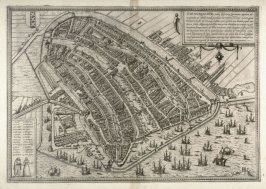 Map of Amsterdam, from the Civitates Orbis Terrarum (Cologne, 1572-1617)