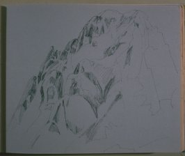 Mountain Ridge, twenty-fifth image from Travel Sketchbook of Antarctica
