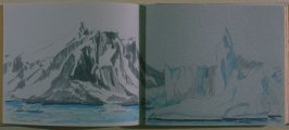 Neumayer Channel, twenty-sixth image from Travel Sketchbook of Antarctica