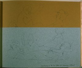 Wallowing in the Hot Baths at Deception Island, twenty-second image from Travel Sketchbook of Antarctica