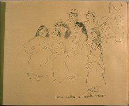 Chilean Children in Puenta Arenas, fifth image from Travel Sketchbook of Antarctica