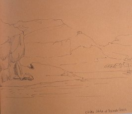 Chilean Station at Tenienta Marsh, fortieth image from Travel Sketchbook of Antarctica