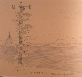 Airstrip at Tenienta Marsh, forty-first image from Travel Sketchbook of Antarctica