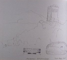 Bird Lookout/Wayne & Susan/ Point Reyes Research, forty-third image from Travel Sketchbook of Antarctica