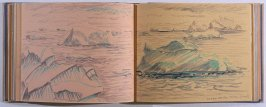 Icebergs Near the Orkney Islands, forty-sixth image from Travel Sketchbook of Antarctica