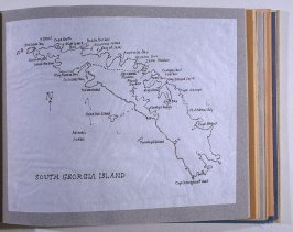 Map of South Georgia Island, fifty-fourth image from Travel Sketchbook of Antarctica