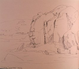 "Chinese ""Great Wall"" Station, thirty-ninth image from Travel Sketchbook of Antarctica"