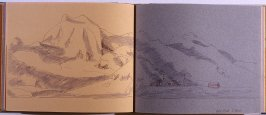 Half Moon Island, thirty-seventh image from Travel Sketchbook of Antarctica