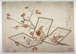 Untitled [Plum Branch and Three Poem Cards]